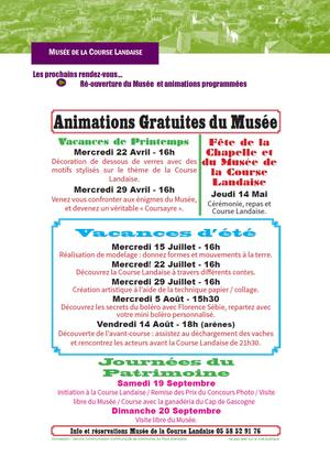 Animations Musée