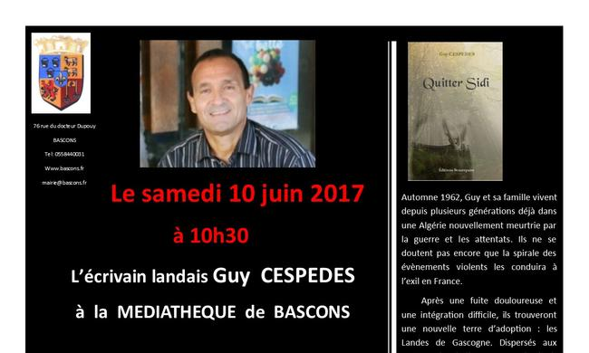 Guy  CESPEDES à  la  MEDIATHEQUE