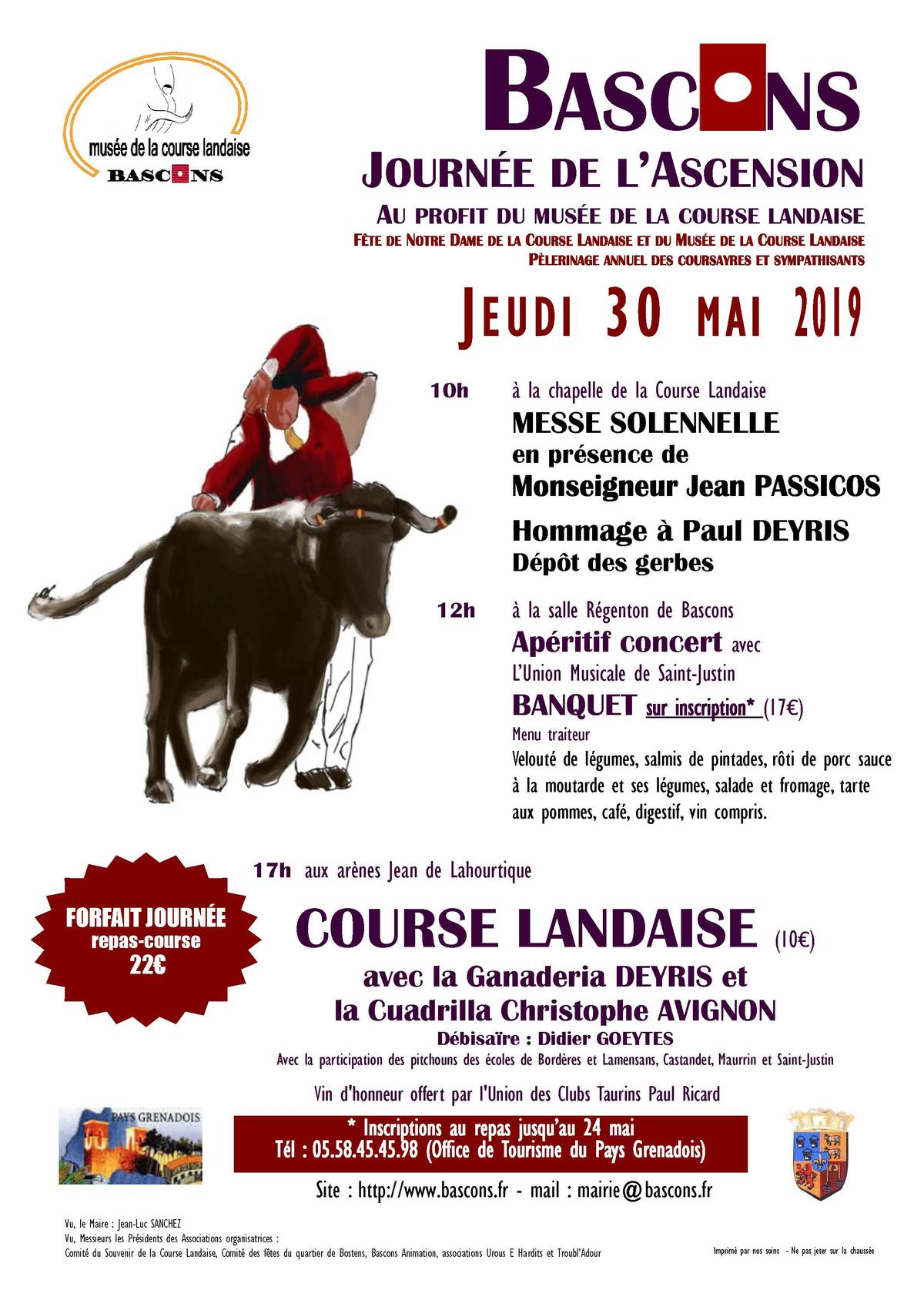 Affiche ASCENSION 30 mai 2019 Bascons