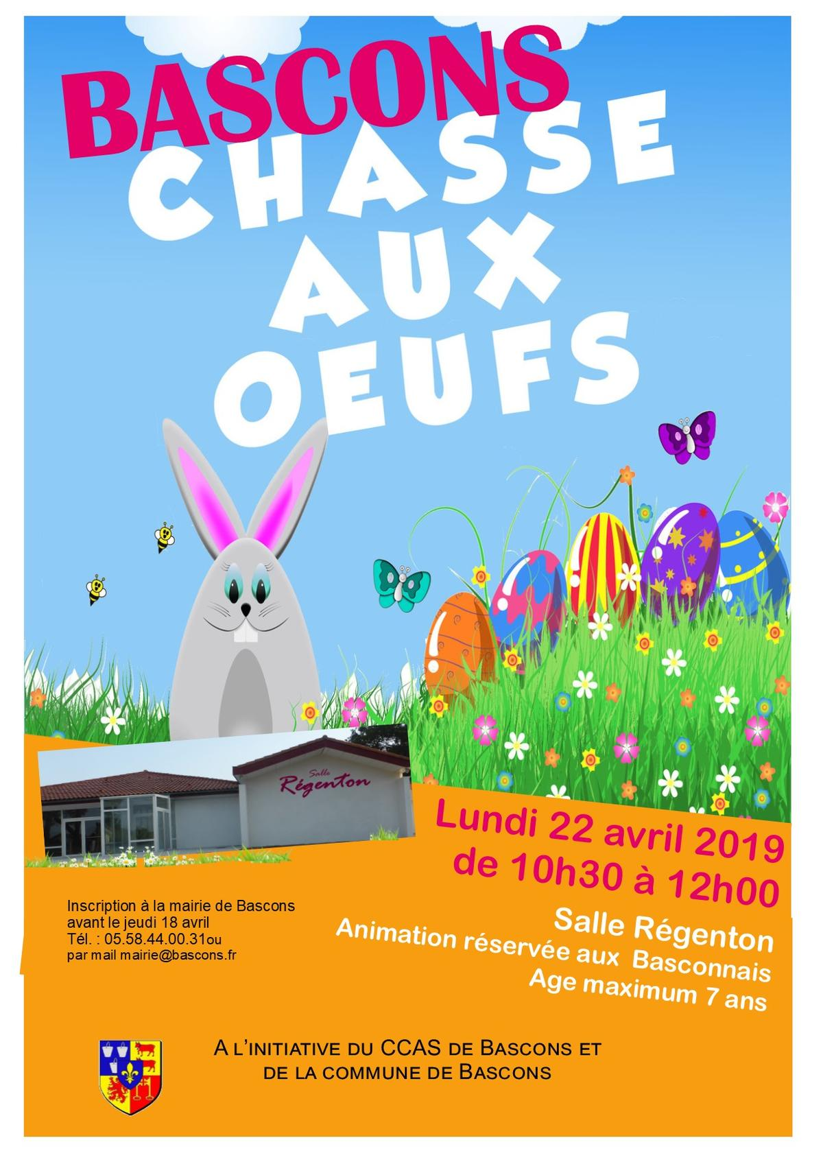 affiche Chasse aux oeufs 2019