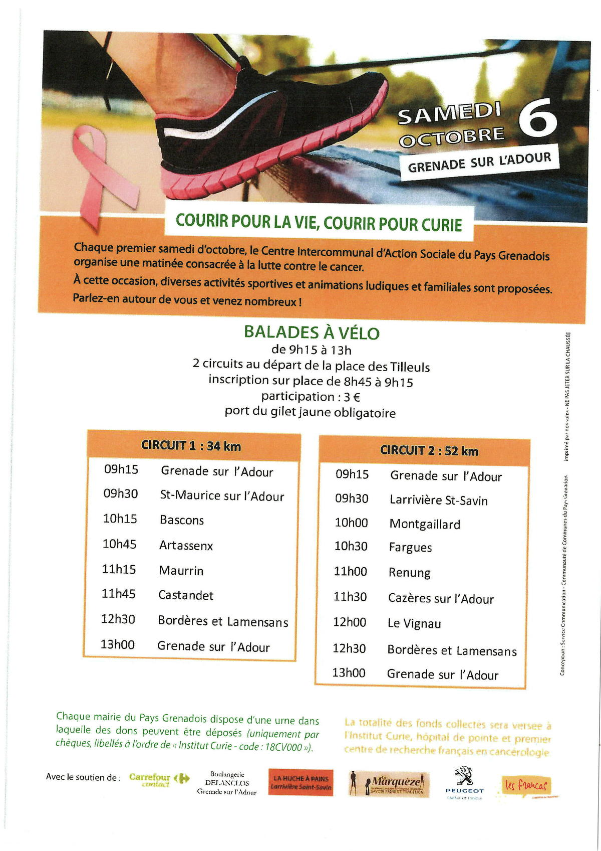 Programme Courir Curie 2018